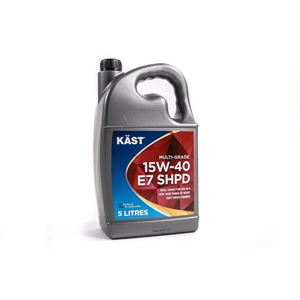 Engine Oils and Lubricants, KAST 15w40 E7 SHPD Multigrade Engine Oil. 5 Litre, KAST