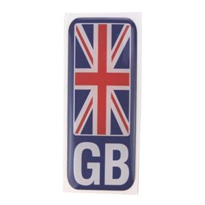 Caravan Accessories, Number plate sticker - GB Union Jack - Polydome, CASTLE PROMOTIONS
