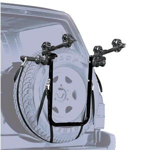 Bike Racks, Peruzzo 4x4 Spare Wheel Mounted 2 Bike Carrier, Peruzzo