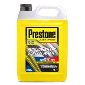 Glass Care, Prestone Max Visibility Screen Wash 5L, PRESTONE