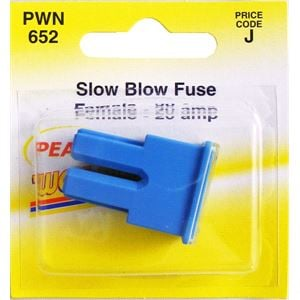 Fuses, Wot-Nots Fuse - Female Slow Blow - Blue - 20A, WOT-NOTS