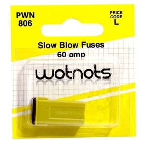 Fuses, Wot-Nots Fuse - J Type Slow Blow - Yellow - 60A, WOT-NOTS
