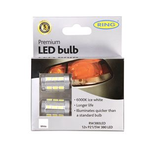 Bulbs - by Bulb Type, 12V P21/5W 6000K Premium LED - Long Life, Ring
