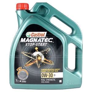 Engine Oils and Lubricants, Castrol Magnatec 0W30 D Stop-Start Fully Synthetic Engine Oil. 4 Litre, Castrol