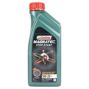 Engine Oils and Lubricants, Castrol Magnatec 5W20 E Stop-Start Fully Synthetic Engine Oil, 1 Litre, Castrol