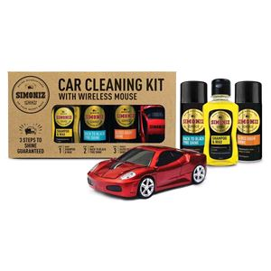 Car Care Kits, SIMONIZ CAR CLEANING GIFT KIT WITH WIRELESS CAR MOUSE, Simoniz