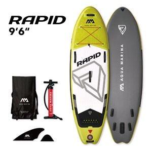 All SUP Boards, Aqua Marina Rapid Wave Surf 2020 SUP Paddle Board, Aqua Marina