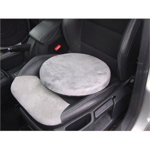 Mobility Aid Car Seat Cushion With 4 5cm Memory Foam Swivel For