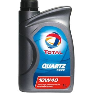 Engine Oils and Lubricants, TOTAL Quartz 7000 10w40 Semi Synthetic Engine Oil. 1 Litre, Total