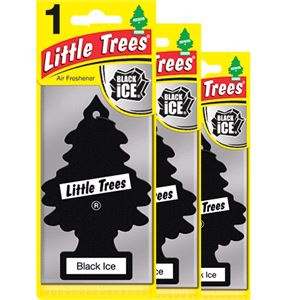 Air Fresheners, Little Trees Black Ice Air Freshener - 3 Pack, Little Trees