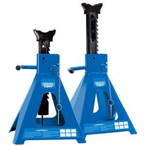 Axle Stands, Draper 01815 Pair of Pneumatic Rise Ratcheting Axle Stands 10 tonne   , Draper