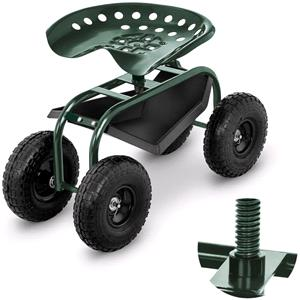 Gardening and Landscaping Equipment, Hillvert Mobile Garden Harvester - Green, Hillvert