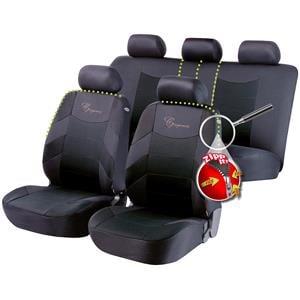Seat Covers, Walser Basic Zipp-It Elegance Car Seat Cover Set - Black & Grey For Mercedes GL-CLASS 2012 Onwards, Walser