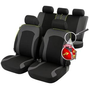 Seat Covers, Inde car seat cover - Black & Grey For Mercedes GL-CLASS 2012 Onwards, Walser