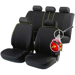 Seat Covers, Walser Allessandro Zipp-It Car Seat Cover Set - Black For Mercedes GL-CLASS 2012 Onwards, Walser