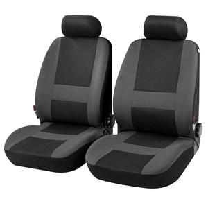Seat Covers, Pocatello Front Car Seat Covers in Grey & Black - For Mercedes GL-CLASS 2012 Onwards, Car Comfort by Walser