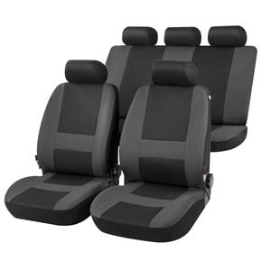 Seat Covers, Pocatello Complete Car Seat Covers in Grey & Black - For Mercedes GL-CLASS 2012 Onwards, Car Comfort by Walser