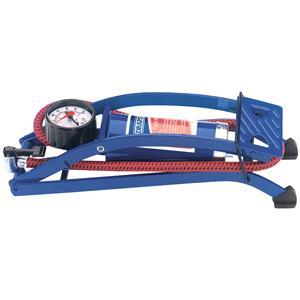 Tyre Inflating Equipment, Draper 14172 Single Cylinder Foot Pump with Pressure Gauge, Draper