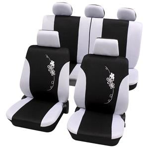 Seat Covers, Petex Universal Seat Cover Eco-Class Flower Complete Set SAB-1, Petex