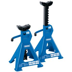 Axle Stands, Draper 30878 2 Tonne Ratcheting Axle Stands (Pair), Draper