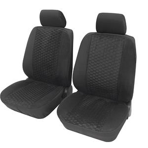 Seat Covers, Petex Universal Front Seat Cover Set - Business-Class Hexagon - 6-Piece, Petex