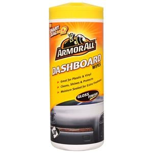 Dash, Rubber and Plastics, ArmorAll Dashboard Wipes (Gloss Finish) - Tub of 30, ARMORALL