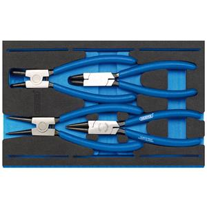 1/4 Drawer EVA Insert, Draper 63218 Circlip Plier Set in 1-4 Drawer EVA Insert Tray (4 Piece), Draper