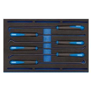 1/4 Drawer EVA Insert, Draper 63494 Long Reach Hook and Pick Set in 1-4 Drawer EVA Insert Tray (6 Piece), Draper