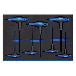 3/4 Drawer EVA Insert, Draper Expert 63503 'T' Handle Ball End Hexagon Key Set in 3-4 Drawer Eva Insert Tray (7 Piece), Draper