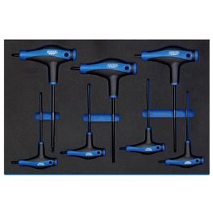 3/4 Drawer EVA Insert, Draper Expert 63505 'T' Handle Draper TX-STAR Key Set in 3-4 Drawer EVA Insert Tray (7 Piece), Draper