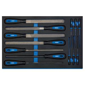 3/4 Drawer EVA Insert, Draper 63513 Hand File Set in 3-4 Drawer EVA Insert Tray (13 Piece), Draper