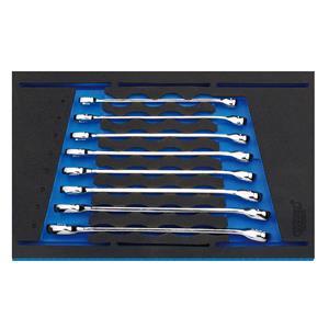 1/4 Drawer EVA Insert, Draper Expert 63522 Combination Spanner Set in 1-4 Drawer EVA Insert Tray (8 Piece), Draper