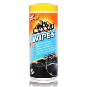 Dash, Rubber and Plastics, ArmorAll Anti-Bacterial Car Wipes - Tub of 24, ARMORALL