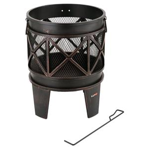 Patio Heaters, Lund Garden Steel Fire Basket - 42cm, LUND