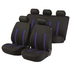 Seat Covers, Walser Basic Zipp-It Hastings Car Seat Cover Set - Black & Blue For Mercedes GL-CLASS 2012 Onwards, Walser