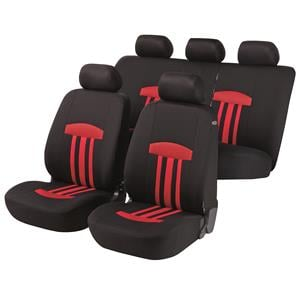Seat Covers, Walser Basic Zipp-It Kent Car Seat Cover Set - Red For Mercedes GL-CLASS 2012 Onwards, Walser
