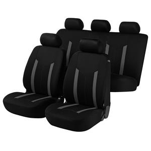 Seat Covers, Walser Basic Hastings Car Seat Cover Set - Grey & Black For Mercedes GL-CLASS 2012 Onwards, Walser