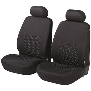 Seat Covers, Walser Premium DotSpot Front Car Seat Covers - Black For Mercedes GL-CLASS 2012 Onwards, Walser