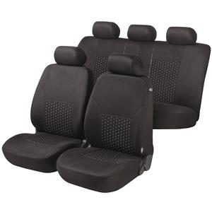 Seat Covers, Walser Premium DotSpot Car Seat Cover Set - Black For Mercedes GL-CLASS 2012 Onwards, Walser
