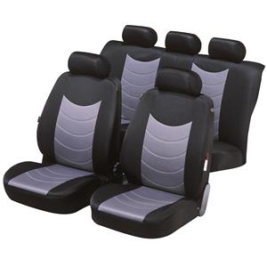 Seat Covers, Felicia car seat cover - Black & Silver For Mercedes GL-CLASS 2012 Onwards, Walser