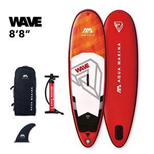 "All SUP Boards, Aqua Marina Wave (2021) 8'8"" Surf Inflatable Board, Aqua Marina"