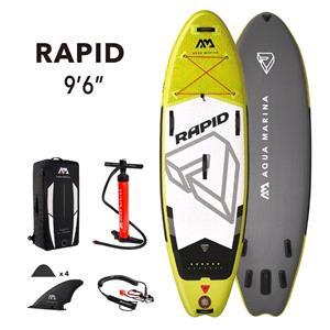 """All SUP Boards, Aqua Marina Rapid (2021) 9'6"""" Wave Surf SUP Paddle Board, Aqua Marina"""
