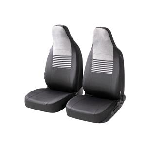 Seat Covers, Walser Gordon Front Car Seat Covers - Black & Grey For Mercedes GL-CLASS 2012 Onwards, Walser
