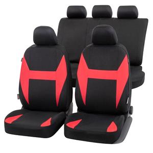 Seat Covers, Walser Caledon Car Seat Cover Set - Black & Red For Mercedes GL-CLASS 2012 Onwards, Walser