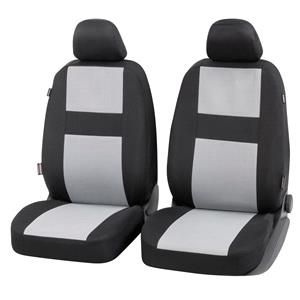 Seat Covers, Walser Glasgow Front Car Seat Covers - Black & Grey For Mercedes GL-CLASS 2012 Onwards, Walser