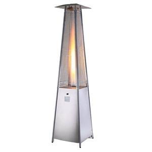 Patio Heaters, MEVA Patio Lamp Heater Radiant Garden Gas PYRAMID STAINLESS STEEL for LPG Gas, MEVA