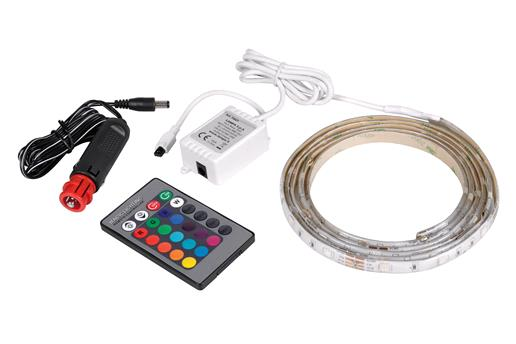 Gadgets, Multi Colour LED Strip Lighting Kit, Interior or Exterior - 12/24V - 200cm, Lampa