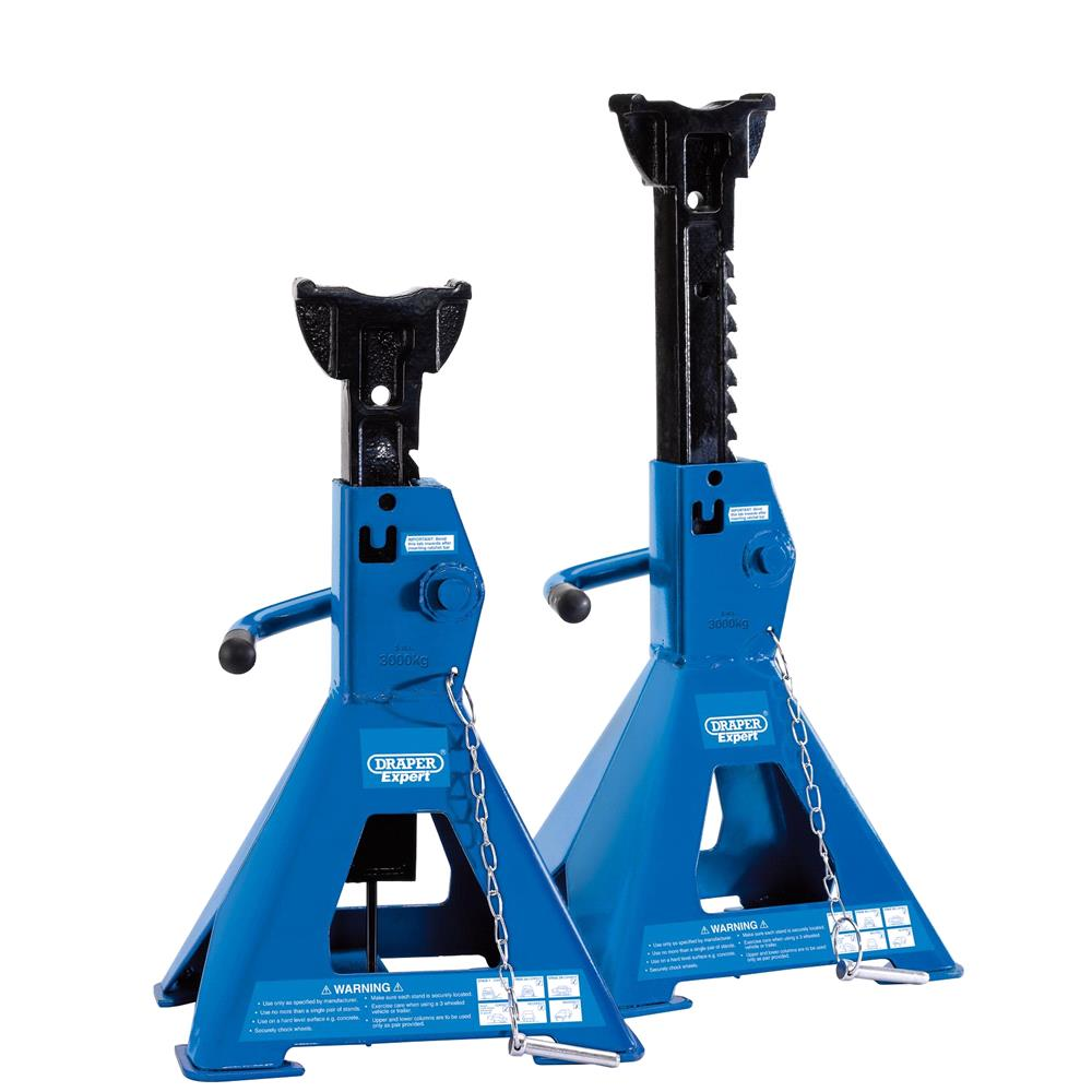 Draper 01813 Pair of Pneumatic Rise Ratcheting Axle Stands 3 tonne