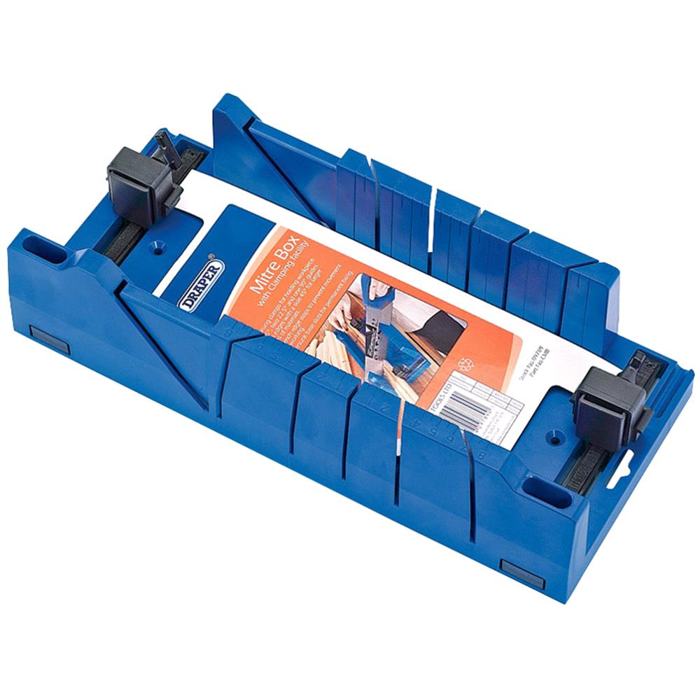 Draper Expert 09789 Mitre Box with Clamping Facility 367mm x 116mm x 70mm
