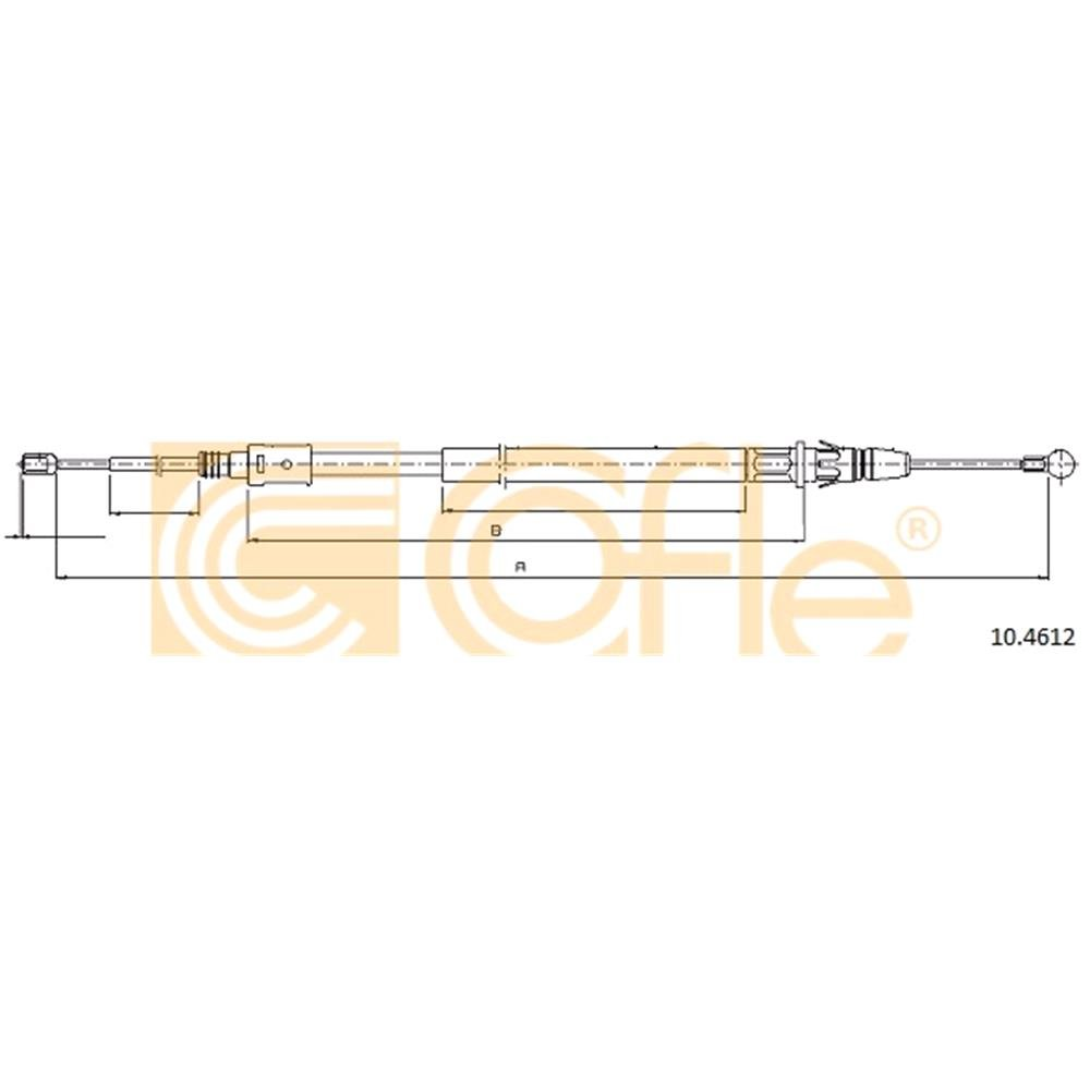 COFLE Brake Cable (10 4612)